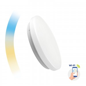 Inteligentna oprawa sufitowa natynkowa LED Spectrum SMART Nymphea 24W Wi-Fi/Bluetooth CCT DIMM