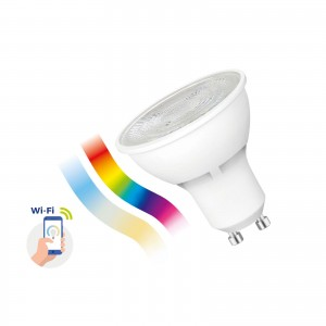 Inteligentna żarówka LED Spectrum SMART 5W GU10 Wi-Fi/Bluetooth RGBW CCT DIMM